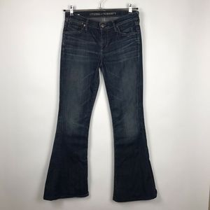Citizens Of Humanity Flared Blue Denim Jeans Sz 28